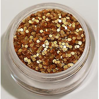 1pcs Hexagon Glitter Gold Brown (Matt)