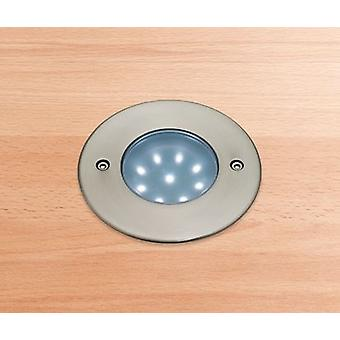Firstlight-LED 9 luz Walkover empotrable de acero inoxidable, blanco IP68-1806WH