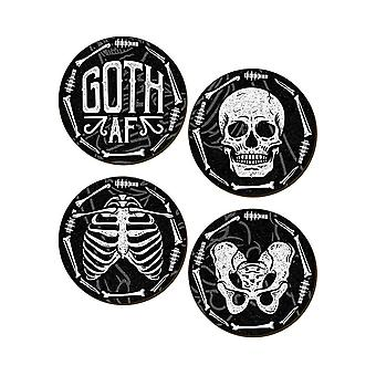 Grindstore goth AF 4 pièce Coaster Set