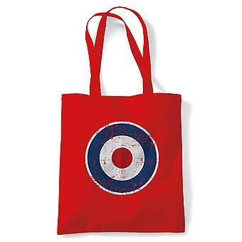 Retro MOD RAF Target Tote - Regalo Riutilizzabile Shopping Borsa