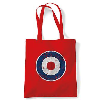 Retro MOD RAF Target Tote - Reusable Shopping Canvas Bag Gift