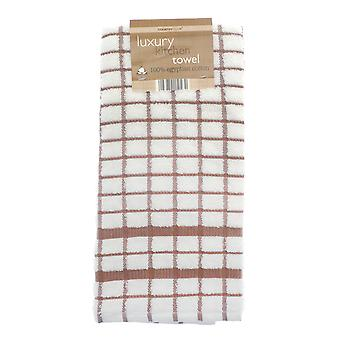 Country Club Luxury Kitchen Towel, Brown