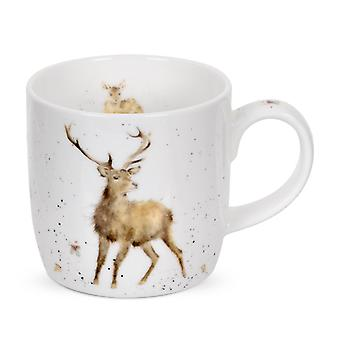 Royal Worcester Wrendale Wild At Heart Stag Deer Single Mug