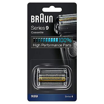 Braun 92B Series 9 Electric Shaver Replacement Cassette Cartridge Foil - Black