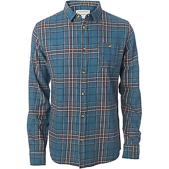 Rip Curl Faded Check Shirt Long Sleeve Shirt in Indian Teal