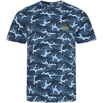 20th Hussars-licenseret British Army broderet camouflage print T-shirt