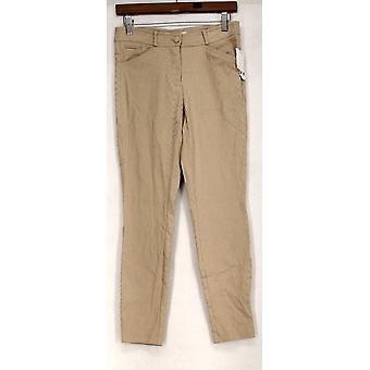 barr III Pantalon Stretch Knit Texturé Camel Beige Femmes