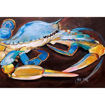 Carolines Treasures  JMK1090PLMT Blue Crab Fabric Placemat