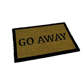 Go Away Natural Coir Indoor Outdoor Doormat 24 x 16 inch