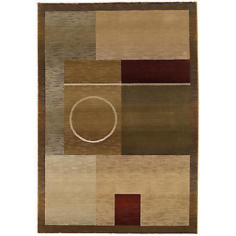 Generations 1987g green/brown indoor area rug rectangle 6'7