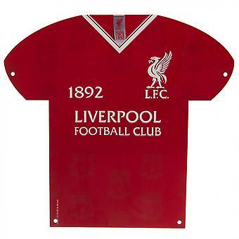 Liverpool FC Shirt geformt Metall Zeichen