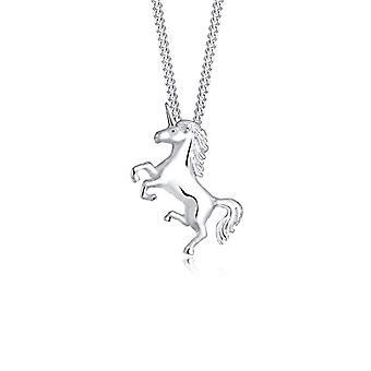 Elli Collana da Donna in Argento 925 - Unicorno