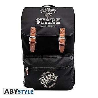 ABYstyle - GAME OF THRONES - Zaino - XXL - Stark - Nero (41 x 12 x 51 cm)