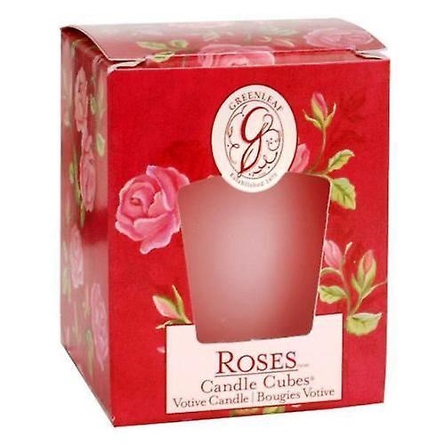 Roses Greenleaf Votive Candle