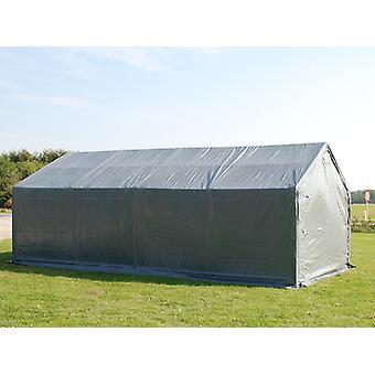 Storage shelter PRO 4x8x2x3.1 m, PE, Grey
