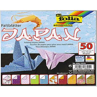 50 Sheets Square Japanese Print Origami Paper - 15cm