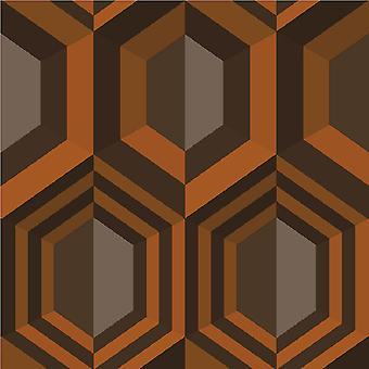 Muriva zeshoek geometrische wallpaper J40705