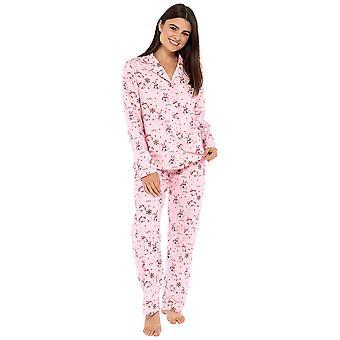 Dams 100% Szczotkowane Bawełna Snowman Piżama Lounge Zestaw