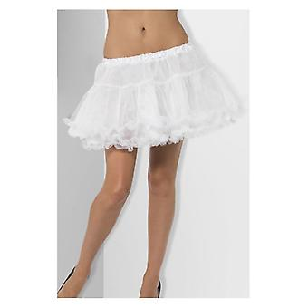 Petticoat, wit met satijnen Band Fancy Dress accessoire