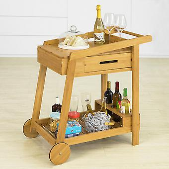 SoBuy Bamboo Home Kitchen Trolley 2 Tiers Serving Trolley with Drawer and Wine Rack,FKW89-N SoBuy Bamboo Home Kitchen Trolley 2 Tiers Serving Trolley with Drawer and Wine Rack,FKW89-N SoBuy Bamboo Home Kitchen Trolley 2 Tiers Serving Trolley with Drawer and Wine Rack,FKW89-N