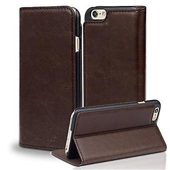 Cadorabo fallet för Apple iPhone 6/iPhone 6S fodral Cover-telefon väska med magnetstängning och stand funktion-Case täcka fall fall bok Folding Style