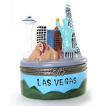 Las Vegas Nevada Casinos Skyline Hinged Trinket Box
