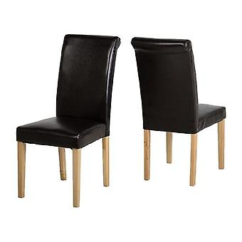 Dunoon Chair Brown Pu