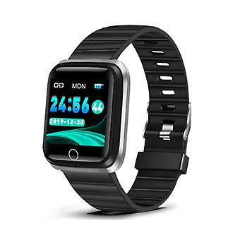 Lige Fashion Sports Smartwatch Fitness Športové aktivity Tracker Smartphone Hodinky iOS Android iPhone Samsung Huawei Silver Black TPU
