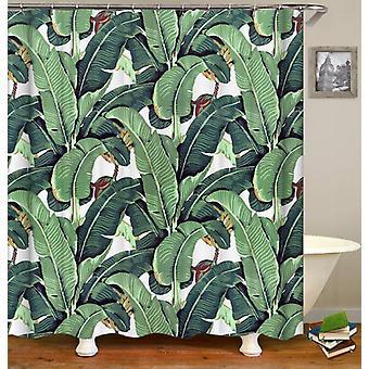 Banana Leaf Painting Shower Curtain