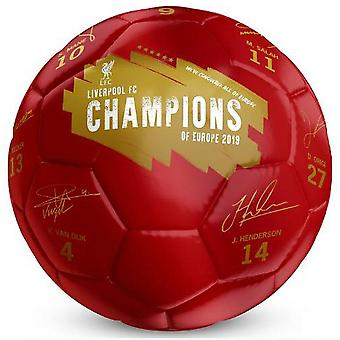 Liverpool FC Champions Of Europe Signature Football