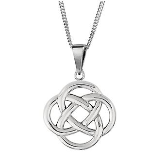 "Celtic Eternity Interlaced Knotwork Necklace Pendant Round Shape - Includes 18"" Chain"