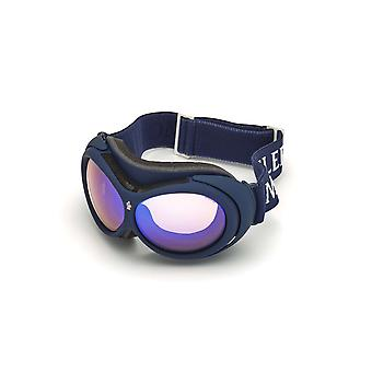 Moncler ML 0130 91X Matte Blue/Blue Mirror Sunglasses