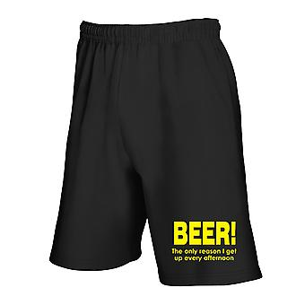 Black tracksuit shorts fun2998 beer the only reason