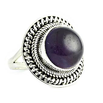 Ring 925 Silber mit Amethyst 56 mm / Ø 17.8 mm (KLE-RI-075-01-(56))
