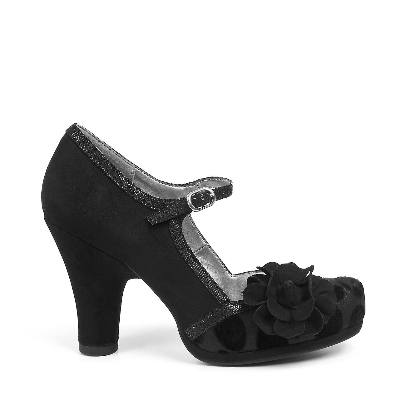 Ruby Shoo Women's Black Spot / Gingham Hannah Mary Jane Bar Shoes