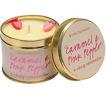Bomb Cosmetics Tinned Candle - Caramel & Pink Pepper