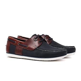 Barbour Capstan Brown/Navy Boat Shoes