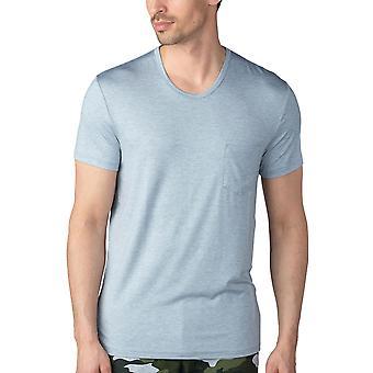 Mey heren 65630-620 heren ' s Jefferson lichtgrijs gemêleerd pyjama topje