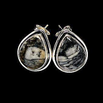 Pinolith Jasper Earrings 3/4