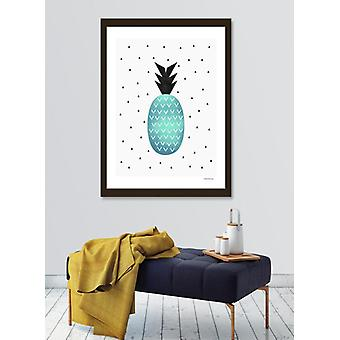Turquoise pineapple  frame