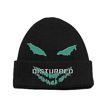 Disturbed Beanie Hat Green Face Band Logo new Official Unisex