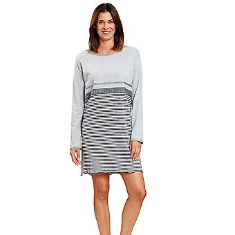 Rösch 1204092-16564 Women's Smart Casual Ringlet Grey Striped Nightdress