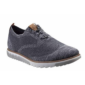 Hush Puppies Mens Expert Wingtip Bounce Plus Leather Tab Trainer