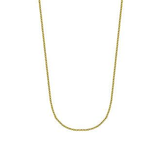 14k Yellow Gold 2.8mm Hollow Round Box Chain Necklace Lobster Claw Closure Jewelry Gifts for Women - Length: 16 to 30