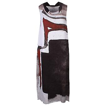 Crea Concept Sleeveless Multi Print Loose Fit Dress With Collar