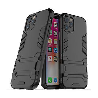 HATOLY iPhone 11 Pro Max - Robotic Armor Case Cover Cas TPU Case Black + Kickstand