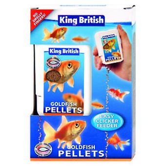 King British Goldfish Easy Clicker Feeder (Fish , Food , Cold Water)