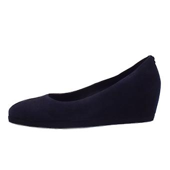 Högl 0-12 4202 Butterflight 40 Mid Wedge Pumps In Navy Suede