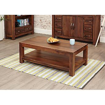 Mayan Walnut Open Coffee Table Brown - Baumhaus