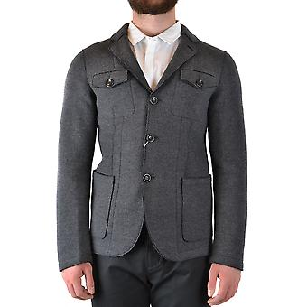 Armani Collezioni Ezbc049135 Men's Grey Wool Coat